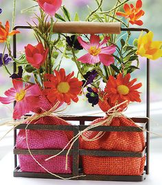 Burlap & Flowers