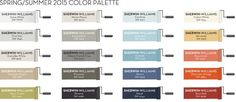 Pottery Barn's Spring/Summer 2015 Color Palette