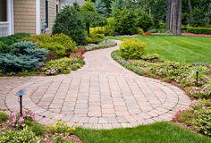 Front yard landscape and front walk design