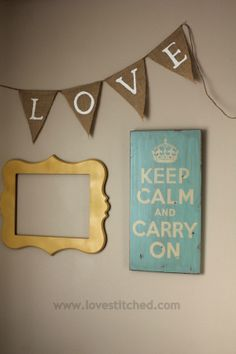 fill blank walls with quotes and frames  She has a fabulous Craft space!
