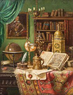 Ernst Czernotzky. Still life with Antiques