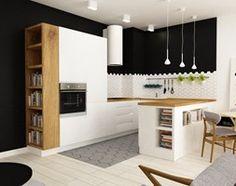 pianohouse powisle warszawa mieszkanie 73 m2 - Średnia otwarta kuchnia w kształcie litery u, styl nowoczesny - zdjęcie od Grafika i Projekt architektura wnętrz