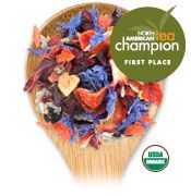 Tea Forte - Organic Blueberry Merlot.  Deep tasting summer-sweet blueberries with a wisp of sage to heighten an excellent cup.