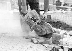 Photo about Close look at the worker with concrete saw in his hands and working, dusty workplace. Image of held, petrol, circular - 2657554 Concrete Saw, Types Of Concrete, Best Circular Saw, Black And White Pictures, Stock Photos, Creative, Hearing Impairment, Construction, Safety