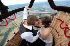 A Hot Air Balloon Wedding by Diane Askew Photography