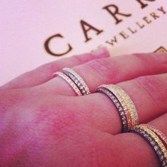 A lot of Ring Party!-rings in pink gold plated silver, oxidized silver, silver and gold plated silver