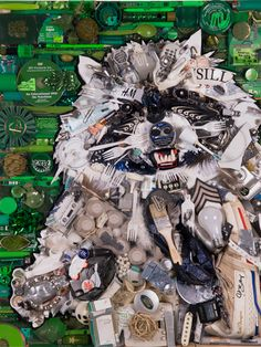 This is made from all trash! Being auctioned off, sponsored by Glad Force flex black bag.