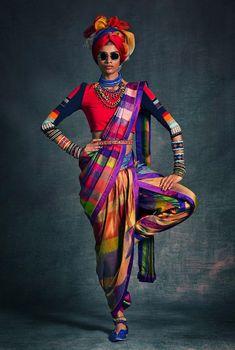 Nostalgic Tribal Prints Known for Redefining Indian Fashion Tarun Tahiliani, Ethnic Fashion, African Fashion, Indian Fashion, Fashion Goth, Fashion Wear, Modern Fashion, Trendy Fashion, Moda Afro