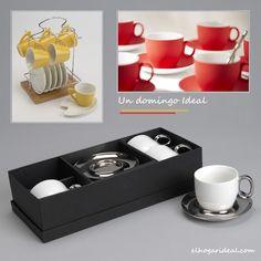 Con un buen café y un colorido juego de tazas, hoy va a ser un domingo Ideal. http://elhogarideal.com/es/74-juegos-de-cafe