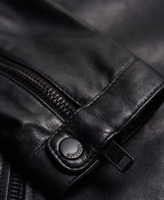 Superdry Leather Quilt Racer Jacket - Men's Jackets Polo Shirt, T Shirt, Superdry, Satchel, Funfetti Cake, Men's Jackets, Mens Fashion, Jacket Men, Quilts
