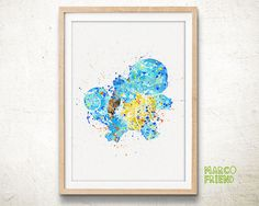 Squirtle, Pokemon - Watercolor, Art Print, Home Wall decor, Watercolor Print, Pocket Monsters Poster