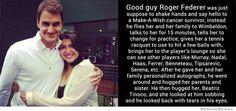 Good Guy Roger Federer, aww :)