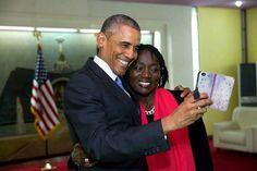 President Obama and his sister Auma Obama