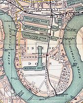 Isle of Dogs as shown in John Rocque& map of London, 1747 - Isle of Dogs - Wikipedia London Map, Old London, London Docklands, Isle Of Dogs, Old Maps, Vintage Farm, London Photos, In The Heights, Places To Travel