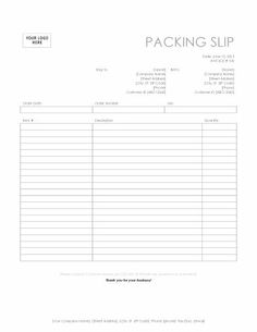 Packing Slip With Return Form  Packing List Template