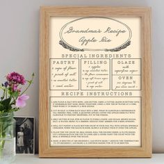 Personalised Recipe Print – Little Pieces