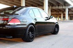 MRR HR6 Matte Black Wheels on BMW 7 Series