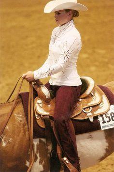 VERY RETRO Ladies Western Pleasure Rail Horse Show Shirt
