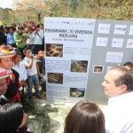 Manuel Velasco Coello visiting and helping indigenous families of  Larráinzar