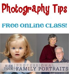 Photography Tips for Portraits! {FREE online class!} ~ learn ideas and techniques for taking stunning portraits!
