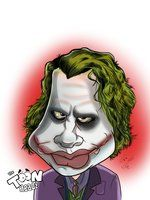 The Joker Caricature ( Heath Ledger ) by *AJToonHeadz on deviantART