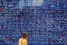 """The next best thing, now that the love locks on the Pont des Arts have been removed, the Love Wall in Montmartre is a mural featuring """"I Love You"""" written 1,000 times in over 300 languages. Snap a romantic selfie with bae and soak up l'amour."""