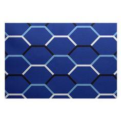 Breakwater Bay Bartow Blue Indoor/Outdoor Area Rug Rug Size: 4' x 6'