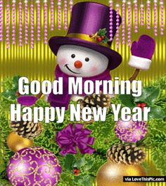Animated Good Morning Happy New Year Quote