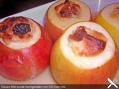 Marzipan - Bratäpfel mit Vanillesoße