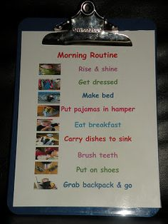 Morning Routine Picture Schedule for home