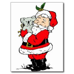 Australian christmas greetings free google search projects to cute australian christmas santa with koala postcards m4hsunfo Choice Image
