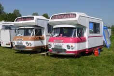 Commer Camper Vans (left 1976 right 1974)