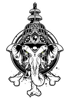 Ganesha  Vector Art - Head01 by BiancazCurze.deviantart.com on @deviantART