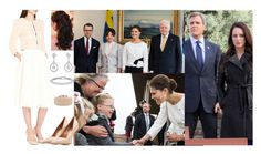 """""""Day 1 of Royal Tour of Iceland,  Arriving in Iceland and being greeted by the president"""" by amelia-of-scotland ❤ liked on Polyvore featuring Ted Baker, Gemvara, Auriya, Salvatore Ferragamo and Oscar de la Renta"""