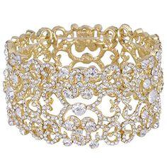 Ever Faith österreichischen Kristall Vintage Retro-Stil elastisch elegant Armband Gold-Ton N04581-2 Ever Faith http://www.amazon.de/dp/B0111NZTFA/ref=cm_sw_r_pi_dp_FVR.wb195HT79