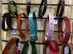 Leather pet collars, Tamar Moyse, The Leather Tinker Holiday Market, Pet Collars, Gift Guide, Lovers, Personalized Items, Pets, Leather, Animals, Animales