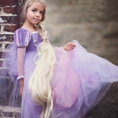 Rapunzel Tutu Dress Tangled-Inspired Costume by EllaDynae on Etsy Tulle Ball Gown, Ball Dresses, Ball Gowns, Kids Outfits Girls, Girl Outfits, Kids Girls, Rapunzel Dress, Tangled Rapunzel, Princess Rapunzel