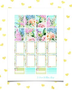 50% OFF SALE/ BOUQUET Watercolor Spring Sticker Kit/ Printable