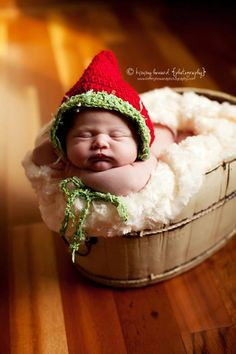 Knit Crochet Christmas Holiday Bonnet Hat for by OopsIKnitItAgain