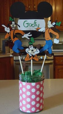 Mickey Font and Mickey and Friends cartridges - Goofy centerpiece
