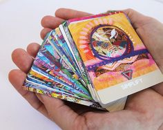 Mama Nurture Oracle Cards. A unique Artists deck of 36 professionally printed cards on smooth, satiny matte cards. Each card measures 2.5 X 3.5 with gorgeous, rounded edges. ABOUT THESE CARDS: Welcome to this beautiful deck, gorgeous Mama! These oracle cards are specially designed to help Mothers access their unique, intuitive voice and prioritise self-care needs ... something us Mamas often need reminding to do!  Brimming with loving self-care messages; these satin-smooth, beautifully…