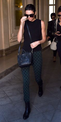 #kendlljenner in #openingceremony lattice skinny pants $325