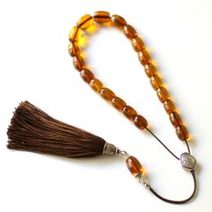 Greek Worry Beads Baltic Amber Handmade Silver Parts by Efhantron, Special Offer at 630€ (starting price 895€)
