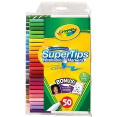 Amazon:  Crayola 50ct Washable Super Tips with Silly Scents for $6.82, down from $12.99!