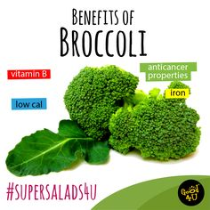#Broccoli - Proven to contain Anti Cancer properties, Iron & Vitamin B. A true Superfood!