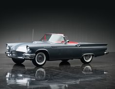Under the hood 1957 Ford Thunderbird Special Supercharged 312/300 HP (40) '10.1956–57