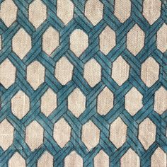 Rope in Lagoon by Bastideaux #bastideaux #linen #geometric #blue #lagoon #designinspiration #textile #fabric #clothandkindinteriordesign