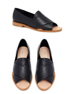 Hannele Open Loafer - Black leather