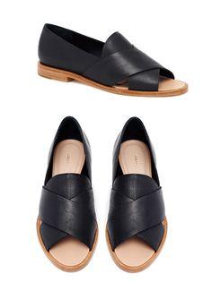 Hannele Open Loafer - Black leather