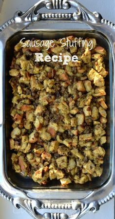 This scrumptious stuffing recipe with sausage and mushrooms is the perfect addition anytime you make a turkey breast or roast chicken. Not just for holidays.